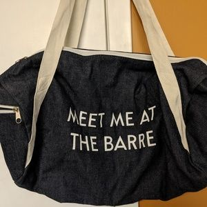 NEW BARRE duffle bag